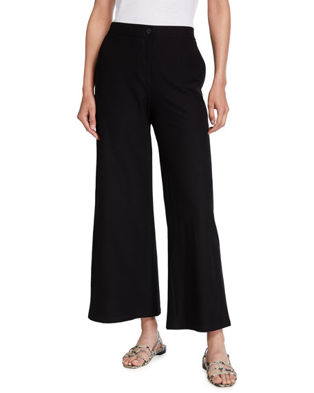 Eileen Fisher Petite Stretch Crepe High-Waist Ankle Pants