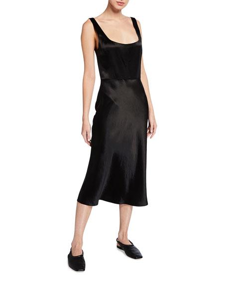 Vince Slim Fitted Satin Slip Dress