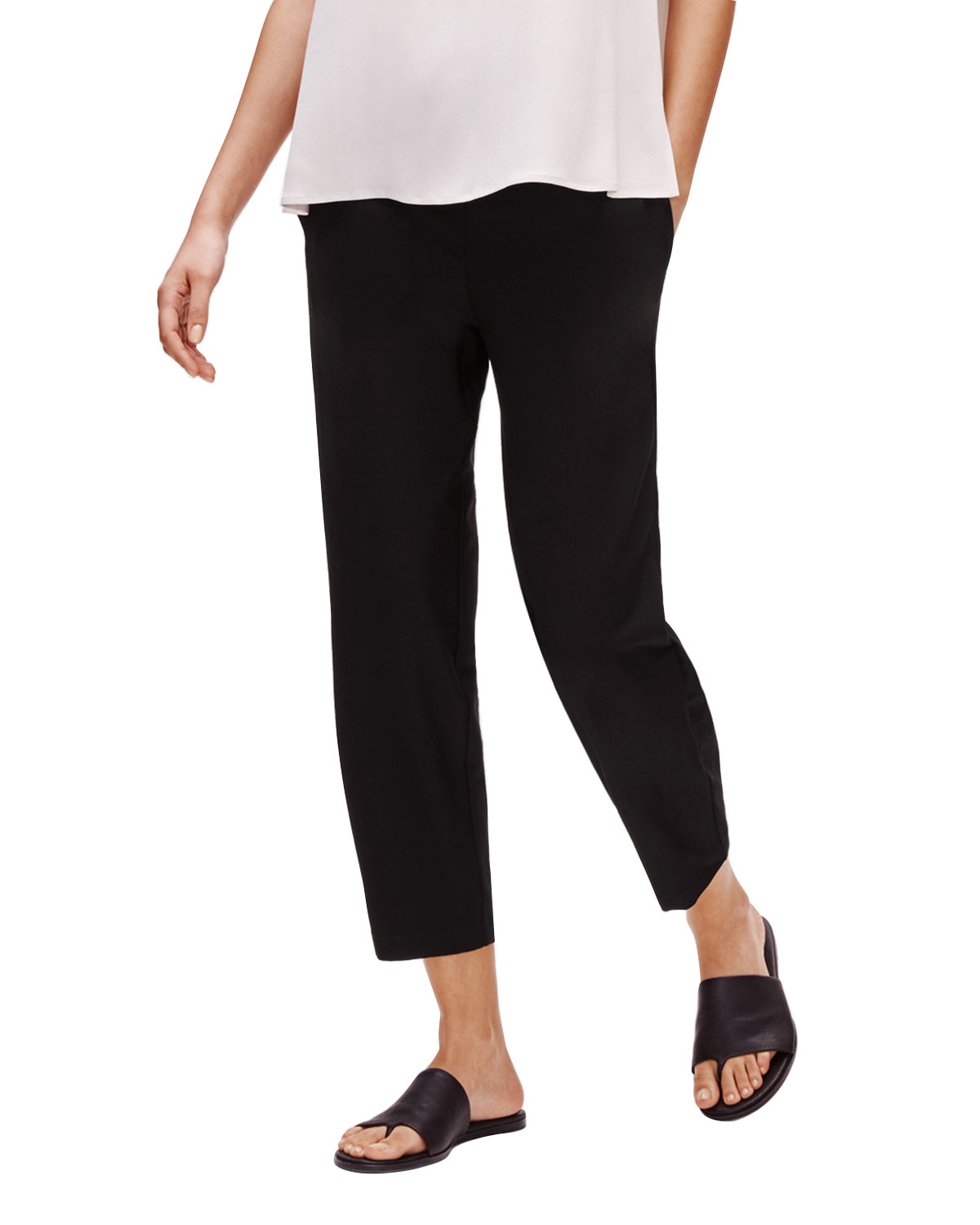 Eileen Fisher Slim pants STRETCH CREPE TAPERED ANKLE PANTS