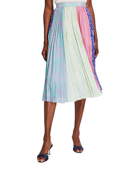 Tanya Taylor Jeana Multipattern Printed Skirt