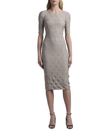 Giorgio Armani Geometric Jacquard Midi Dress