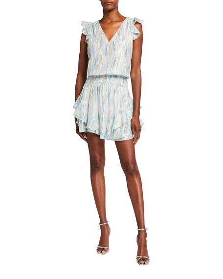 Ramy Brook Simone Printed Silk Lurex Dress