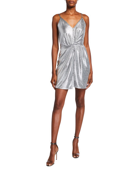 Ramy Brook Sierra Foiled Jersey Cocktail Dress