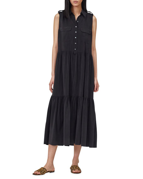 Equipment Allix Sleeveless Tiered Maxi Dress