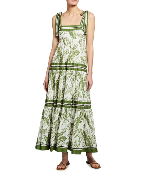 Zimmermann Empire Tie-Shoulder Dress
