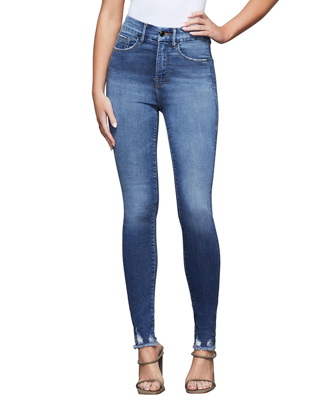 Good Waist Jeans with Chewed Hem