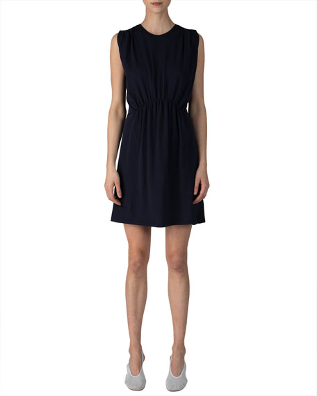 ATM Anthony Thomas Melillo Sleeveless Pima Cotton Dress w/ Tuck Detail