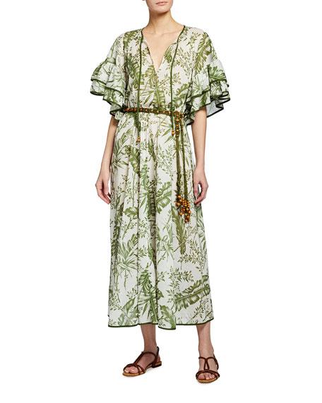 Zimmermann Empire Flutter-Sleeve Coverup Dress