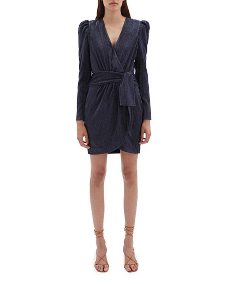 Jonathan Simkhai Metallic Wrap Mini Dress