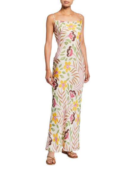 Rhode Floral-Print Slip Dress