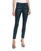 AG Adriano Goldschmied Farrah Leatherette High-Rise Ankle Skinny