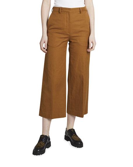 Kenzo Cropped Wide-Leg Pants
