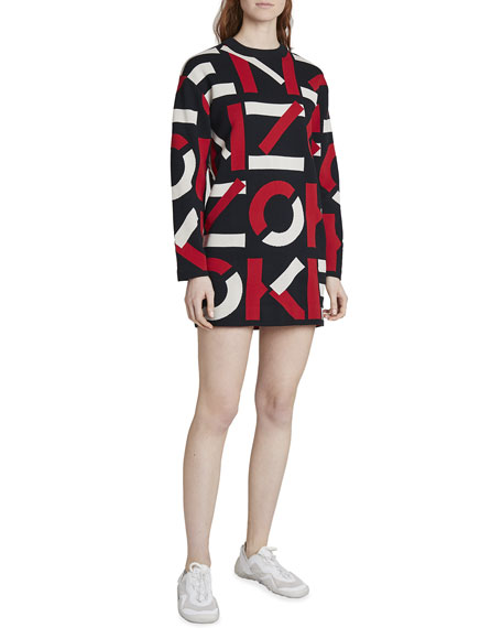 Kenzo Long-Sleeve Sport Dress