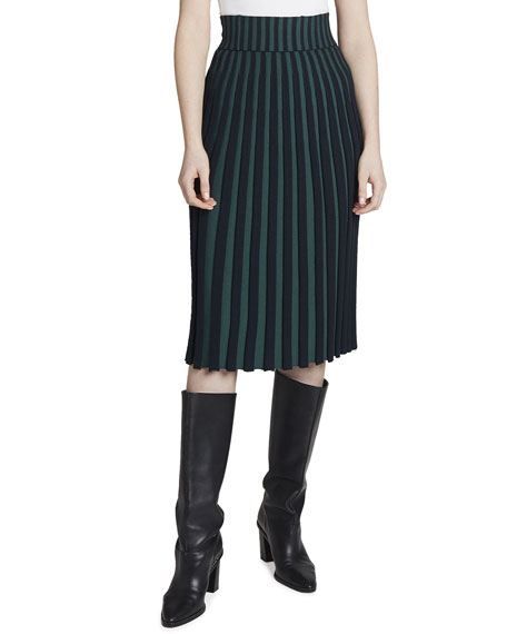 Kenzo High-Rise Pleated Midi Skirt