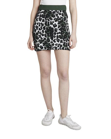 Kenzo Leopard Jacquard Short Skirt
