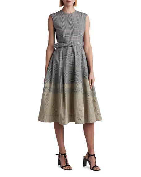 MSGM Check Degrade Sleeveless Dress