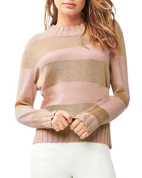 ASTARS Lorana Striped Cotton Sweater