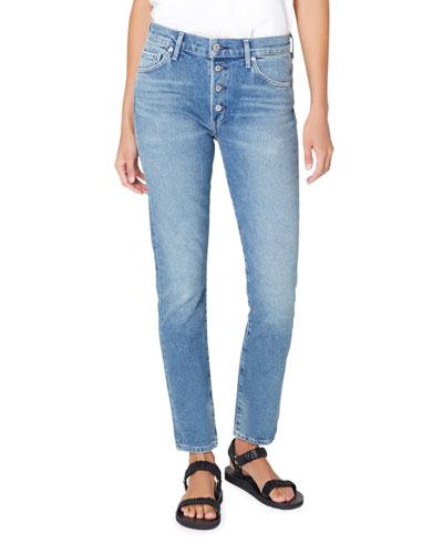Skyla Mid Rise Cigarette Jeans