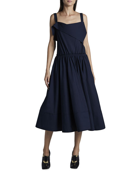 Proenza Schouler White Label Cotton Shirting Apron Dress