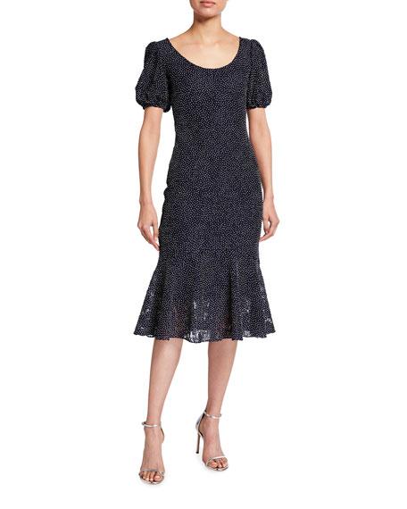 Shoshanna Kosma Dotted Flounce Dress