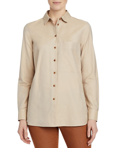 Lafayette 148 New York Ruxton Genteel Shirting Blouse