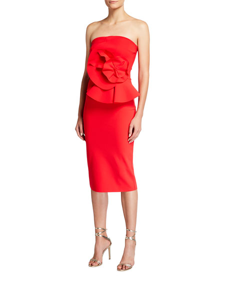 Chiara Boni La Petite Robe Hebe Strapless Embellished Jersey Dress