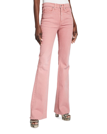 Veronica Beard Jeans Beverly Skinny Flare Jeans With Raw Hem