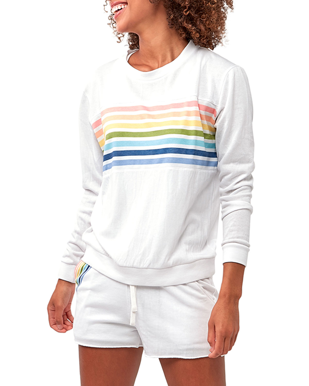 Faith Rainbow Stripe Sweatshirt