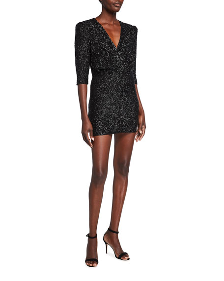 Iro Justify Sequined V-Neck Mini Dress