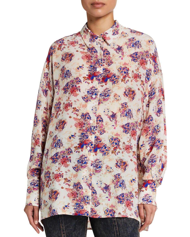 Haul Long-Sleeve Floral Button-Down Shirt