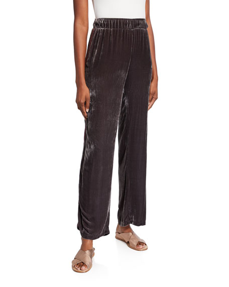 Johnny Was Ravi Wide-Leg Velvet Pants