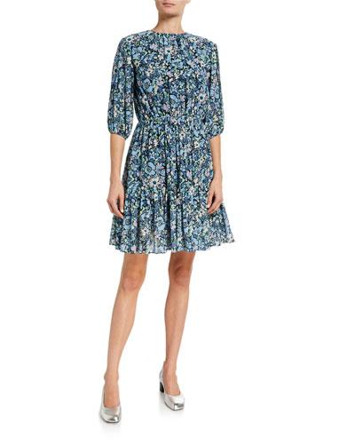 Kala Puff-Sleeve Dress