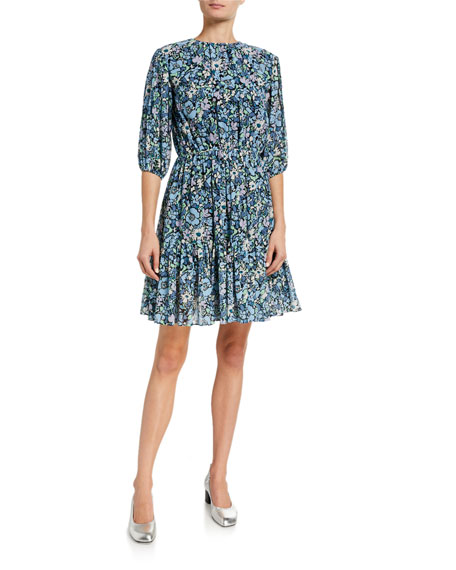 Derek Lam 10 Crosby Kala Puff-Sleeve Dress