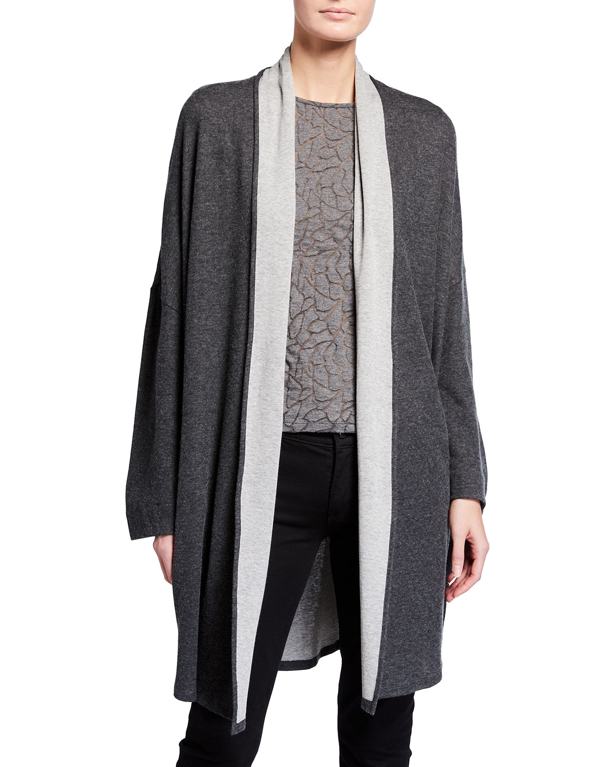 Double-Face Cotton-Cashmere Relaxed Cardigan