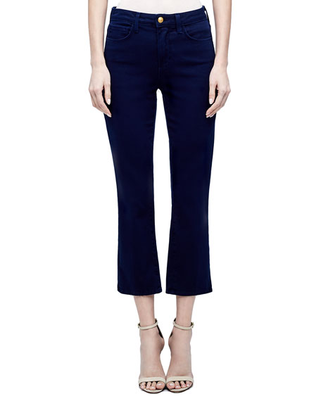 L'Agence Nadia High-Rise Crop Straight Jeans