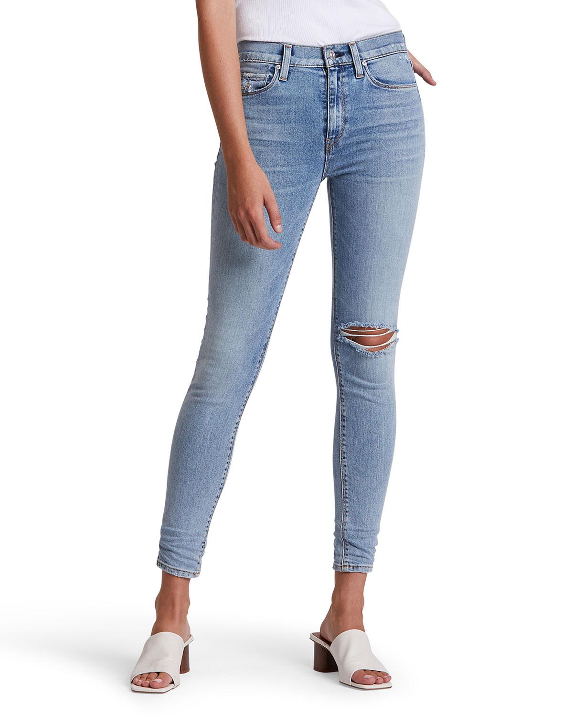 Nico Distressed Crop Skinny Jeans