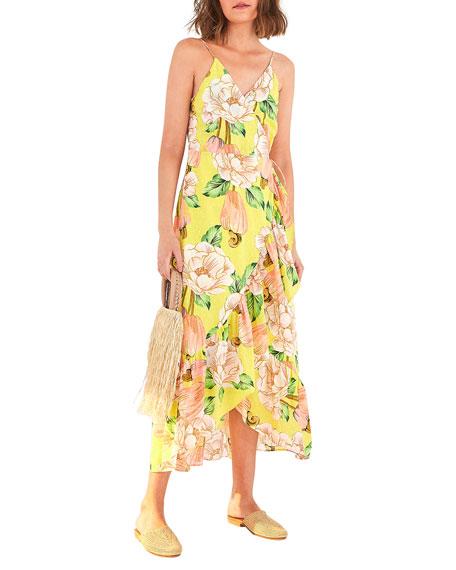Farm Rio Floral Cashew Midi Dress