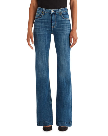 7 for all mankind Ginger Flare Jeans - Broken Twill Athens