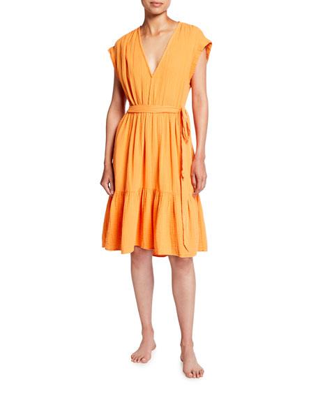 Xirena Maren V-Neck Cotton Gauze Dress