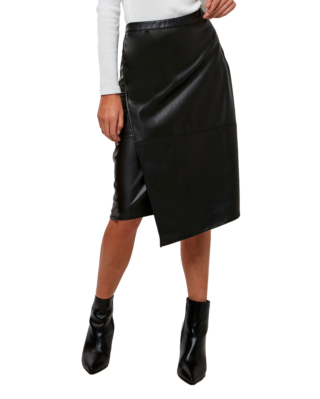 Inverness Vegan Leather Tummy Tuck Skirt
