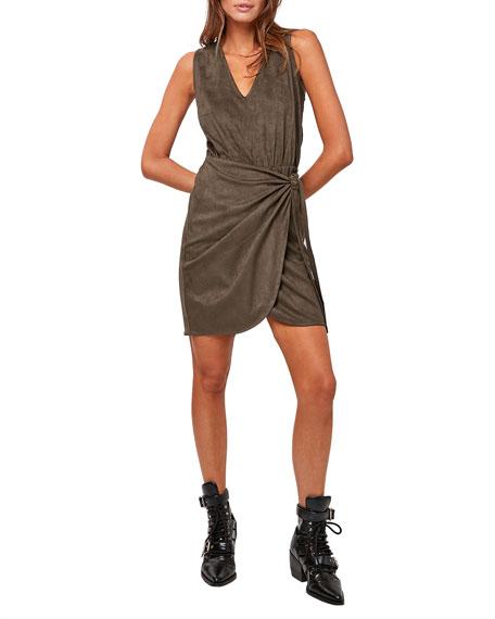 ASTARS Front Line Vegan Suede Dress