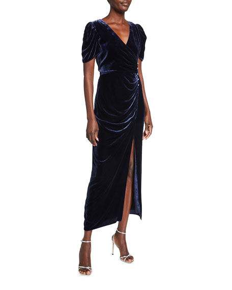Shoshanna Ada Midnight Shine Velvet Gown