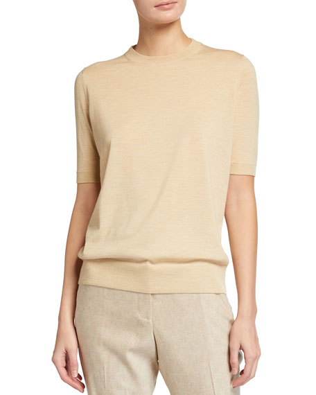 Lafayette 148 New York Crewneck Fine Gauge Merino Wool Sweater