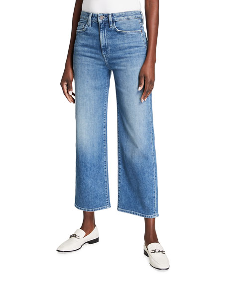 Lafayette 148 New York Wyckoff 13 oz Italian Heritage Denim Wide-Leg Ankle Jeans
