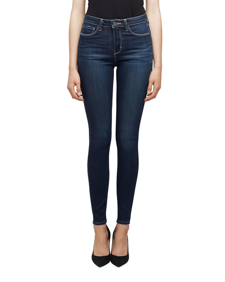 L'Agence Marguerite High-Rise Ankle Skinny Jeans