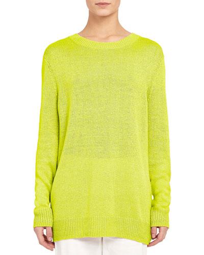 Solid Crewneck Sweater