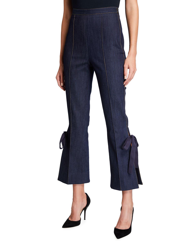 Lou Side-Split Denim Pants