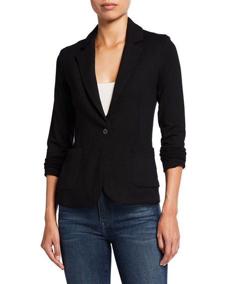 Majestic Filatures One-Button Fitted Blazer