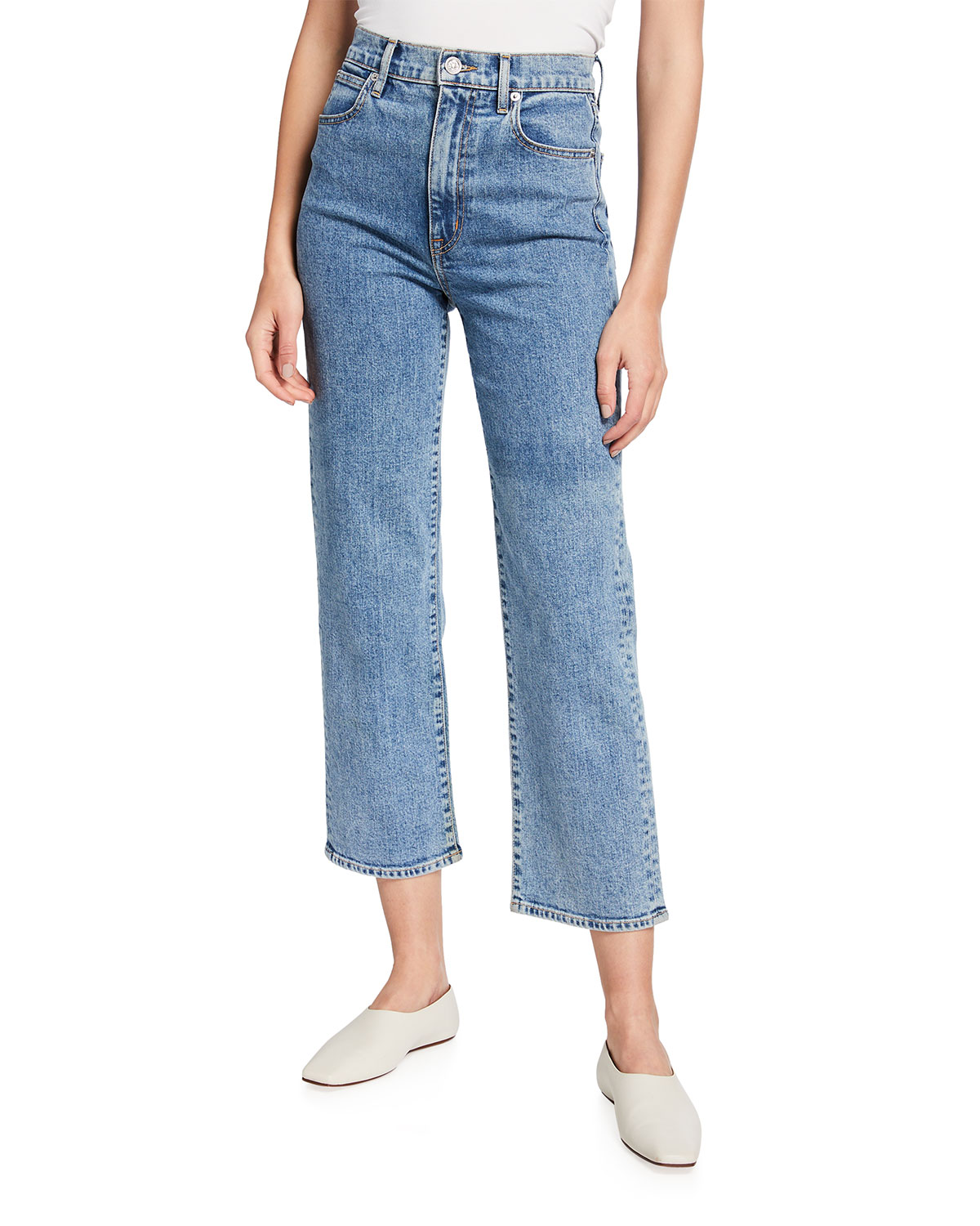 Slvrlake Cottons LONDON CROPPED JEANS