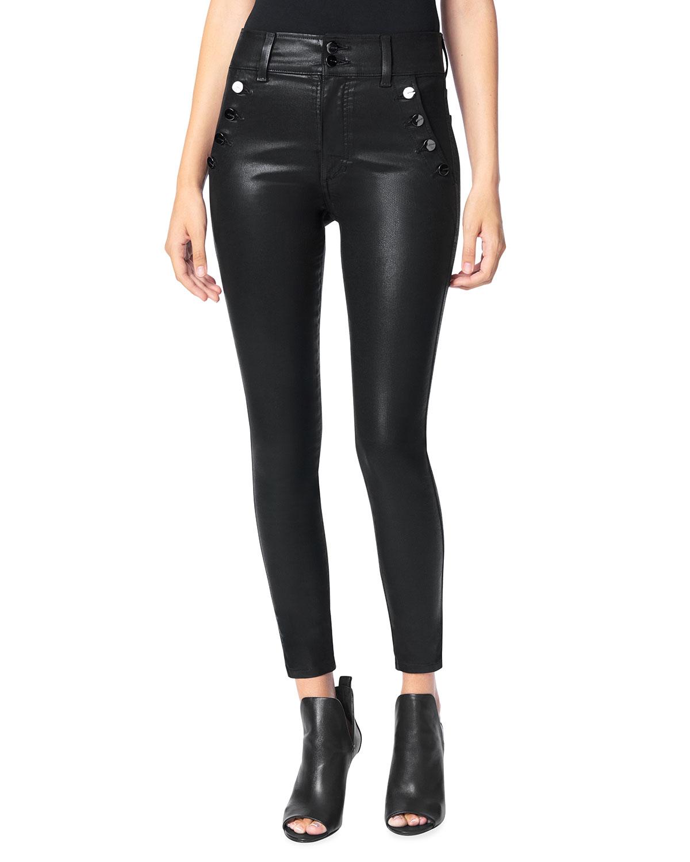 The Georgia Ankle Skinny Coated Jeans